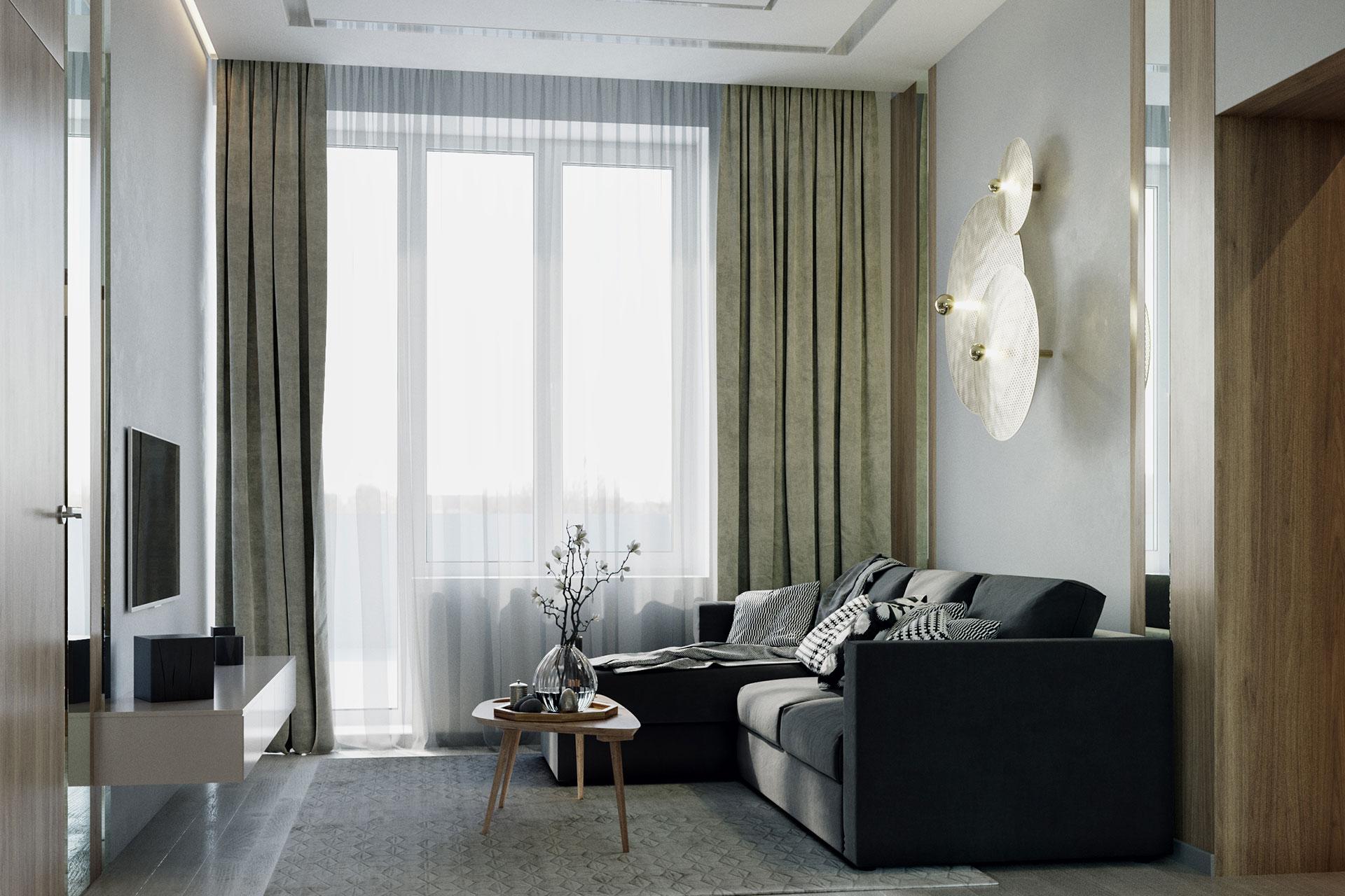 3D визуализация квартиры в современном стиле