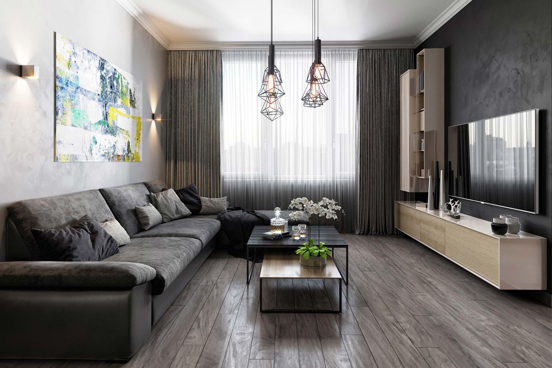 Визуализация интерьера квартиры в современном стиле