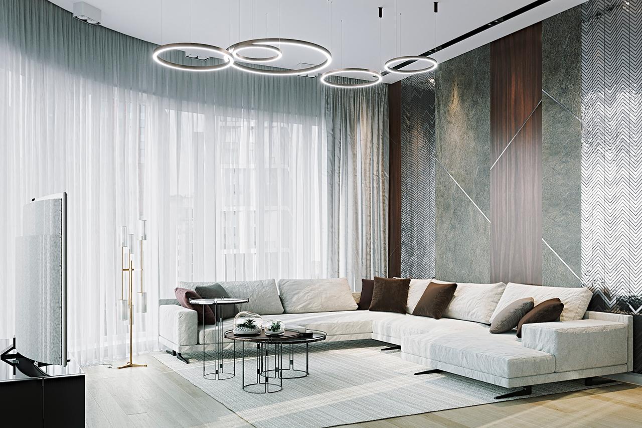 Четырехкомнатная квартира в современном стиле