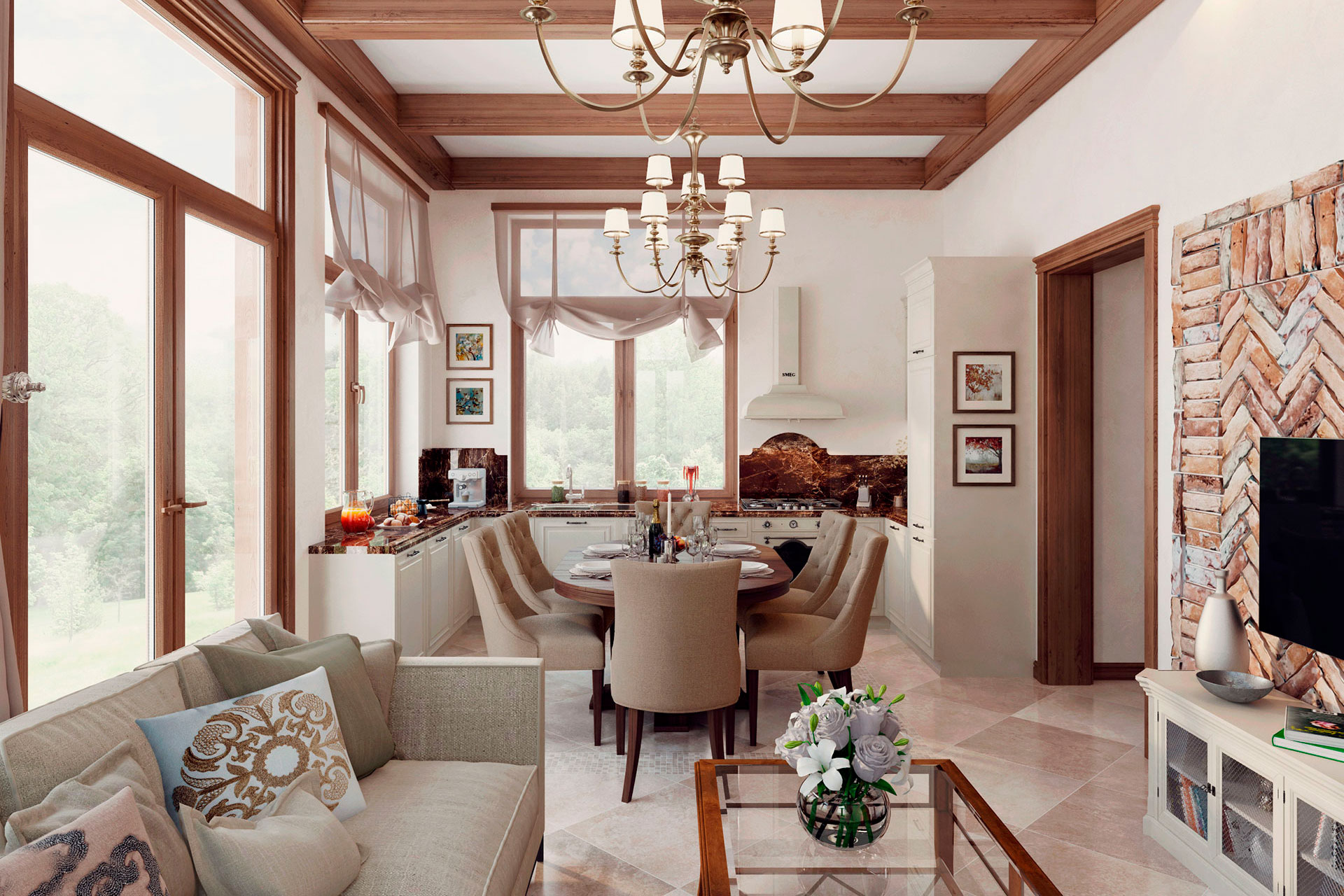 3D-визуализация дома в классическом стиле