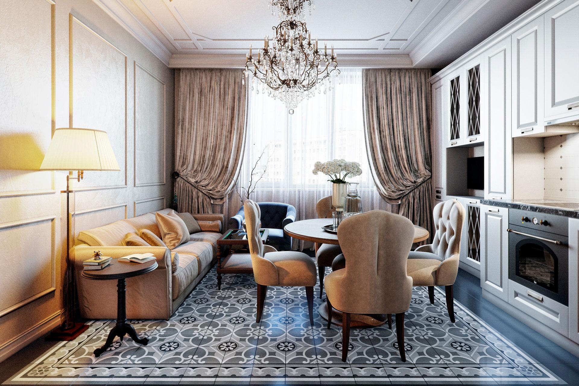 Квартира в классическом стиле ЖК Мосфильмовский