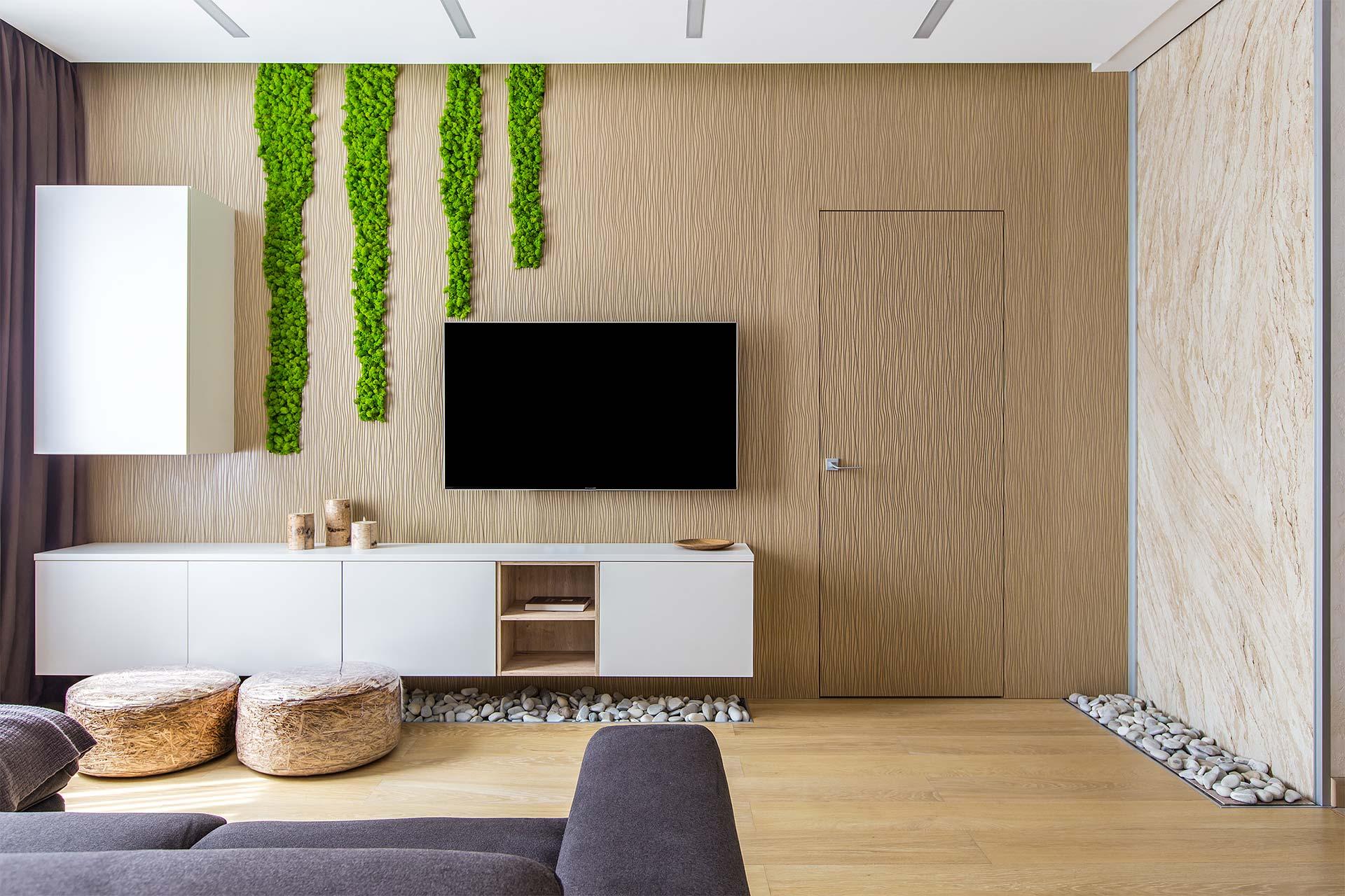 Современный стиль интерьера квартиры в ЖК Мосфильмовский