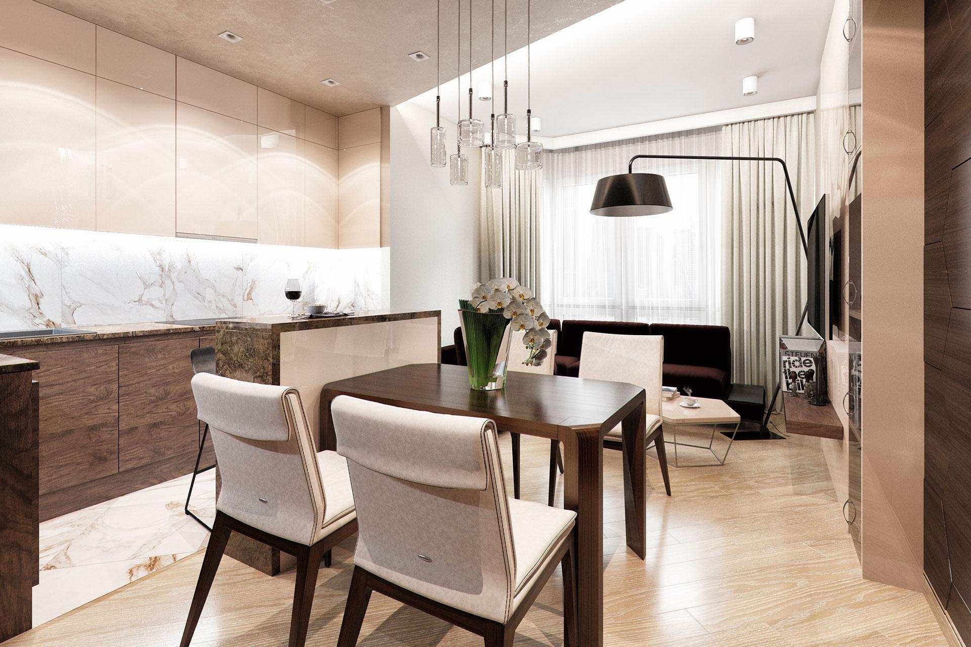 Современный стиль дизайна интерьера квартиры