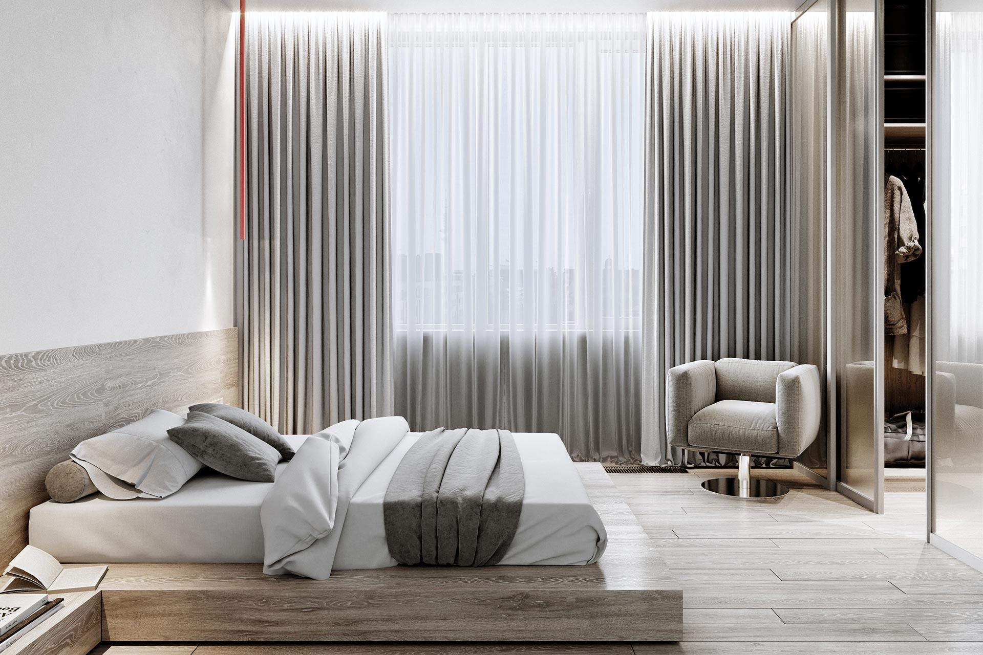 Визуализация интерьера квартиры в стиле минимализм