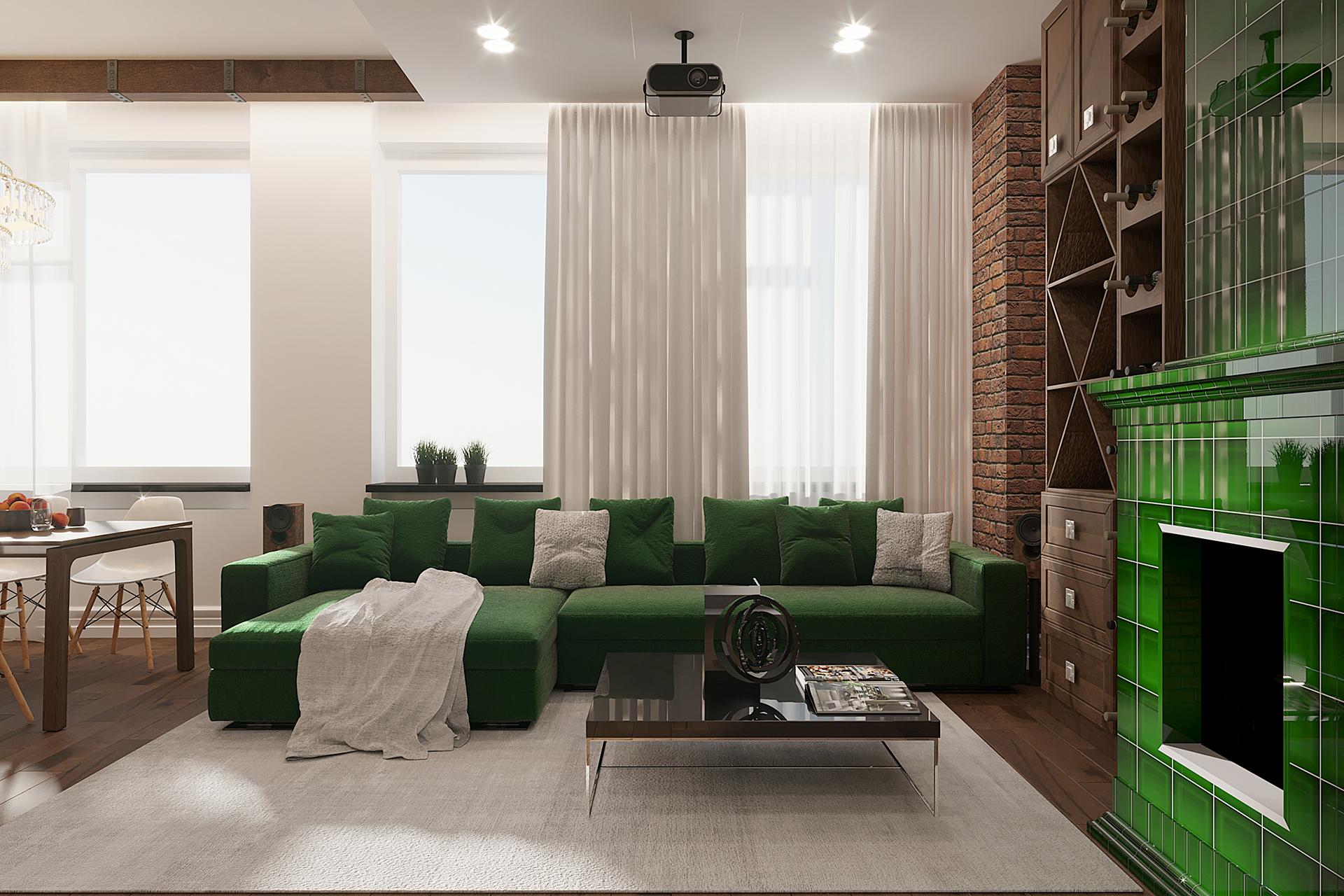 Визуализация интерьера квартиры в ЖК Лица