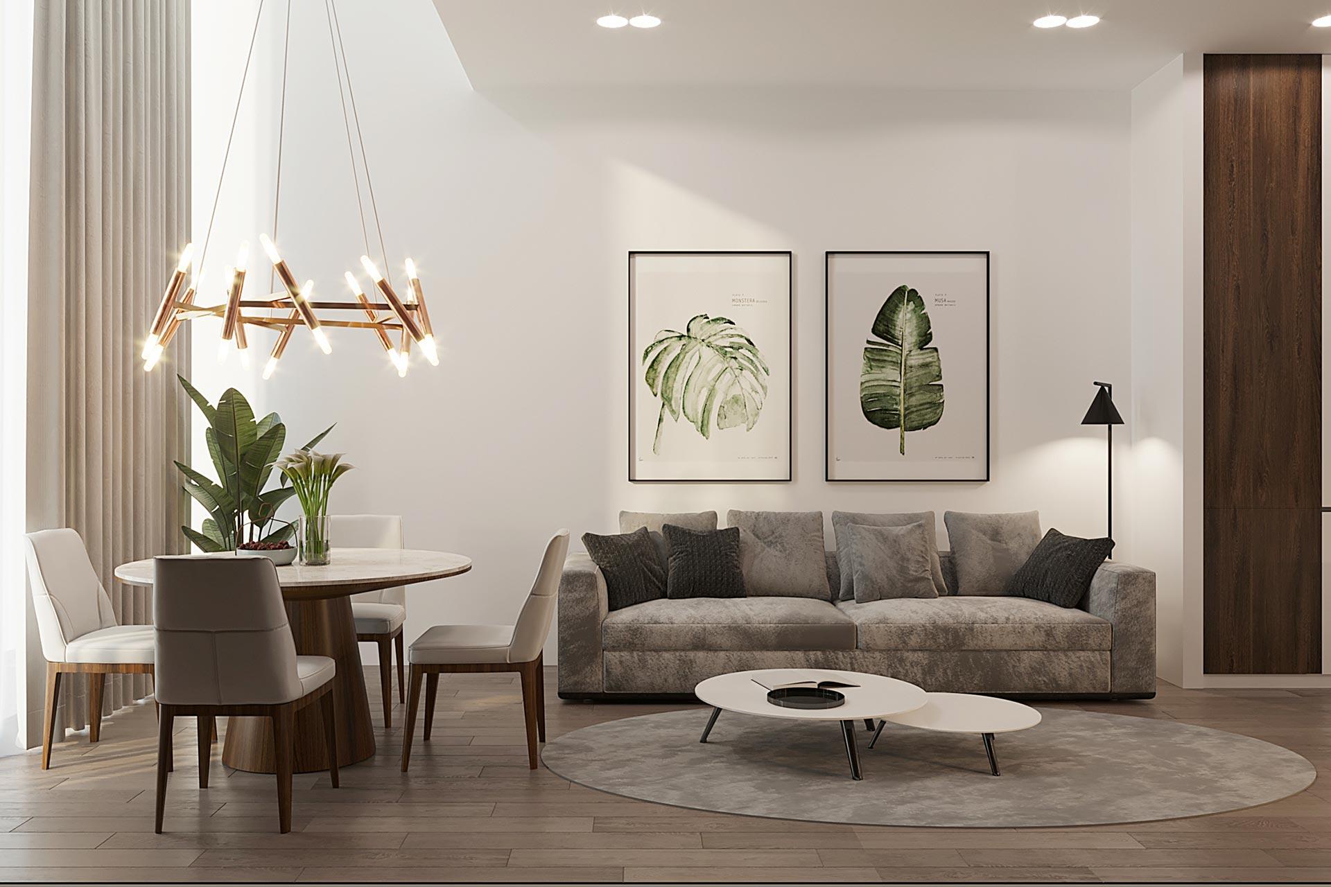 Визуализация интерьера квартиры в ЖК Balchug Viewpoint