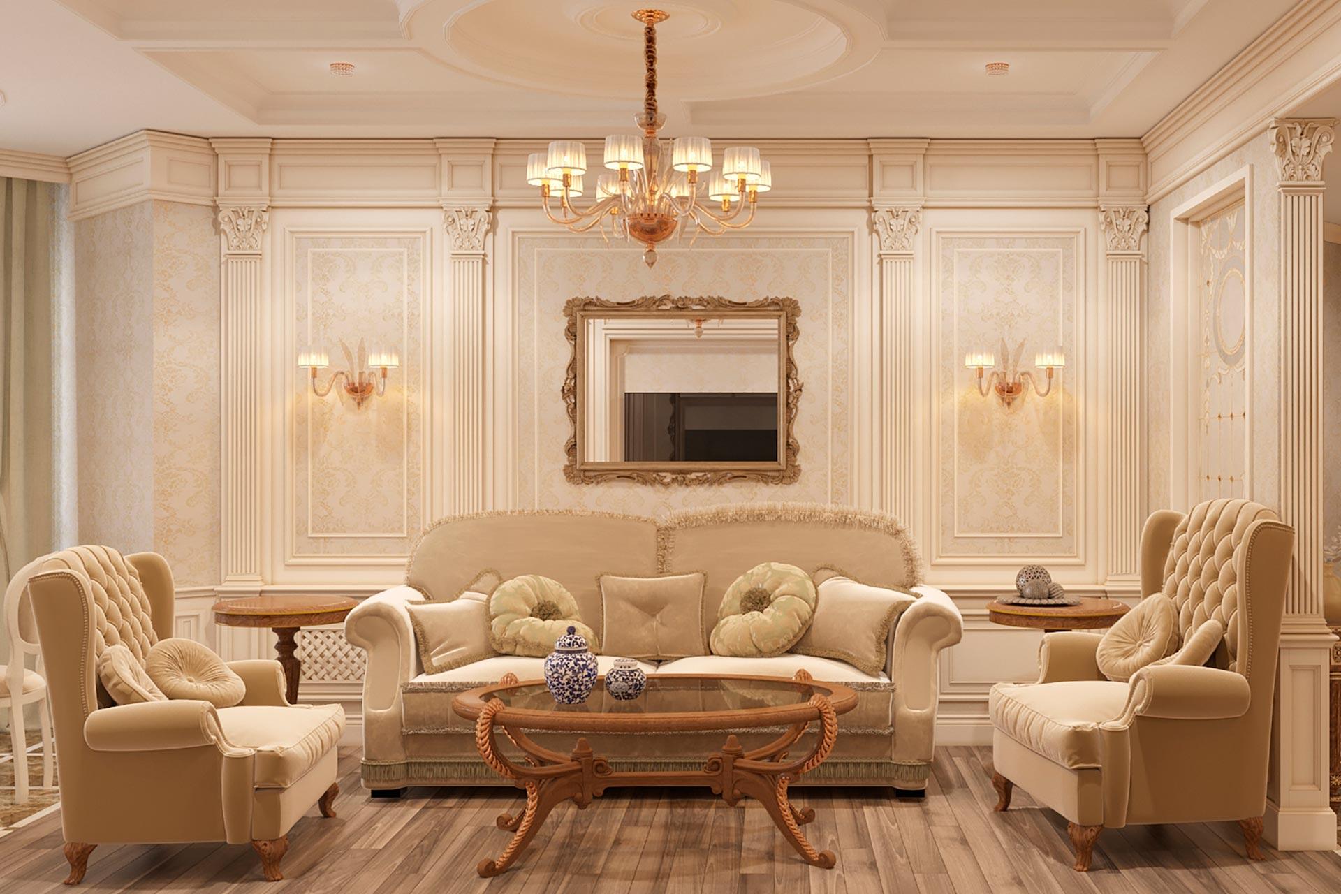 3d-визуализация интерьера квартиры в ЖК Дыхание