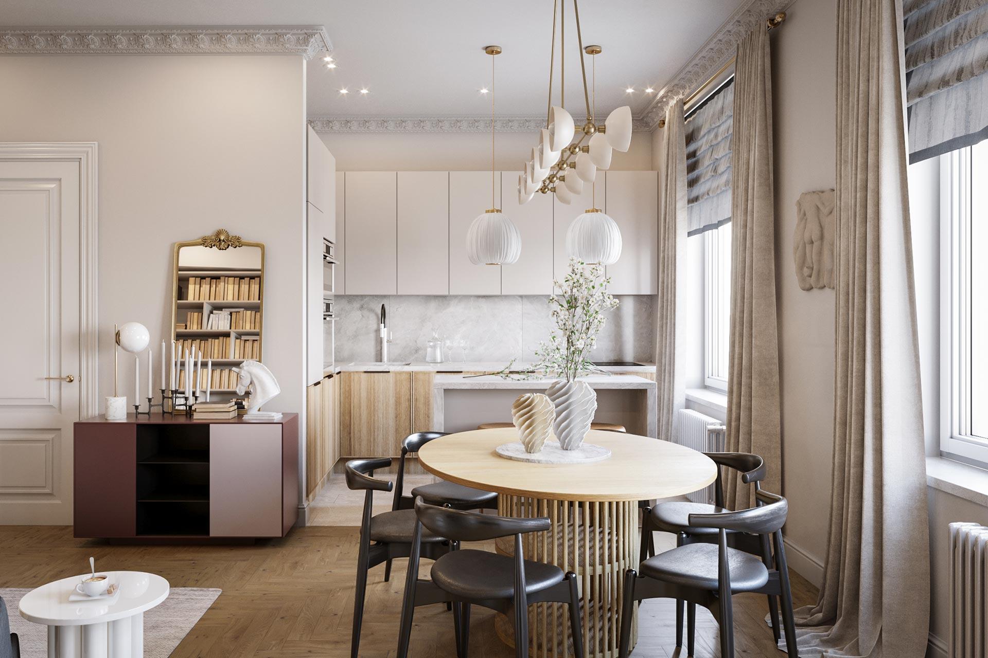 Дизайн двухкомнатной квартиры в ЖК Сердце Столицы