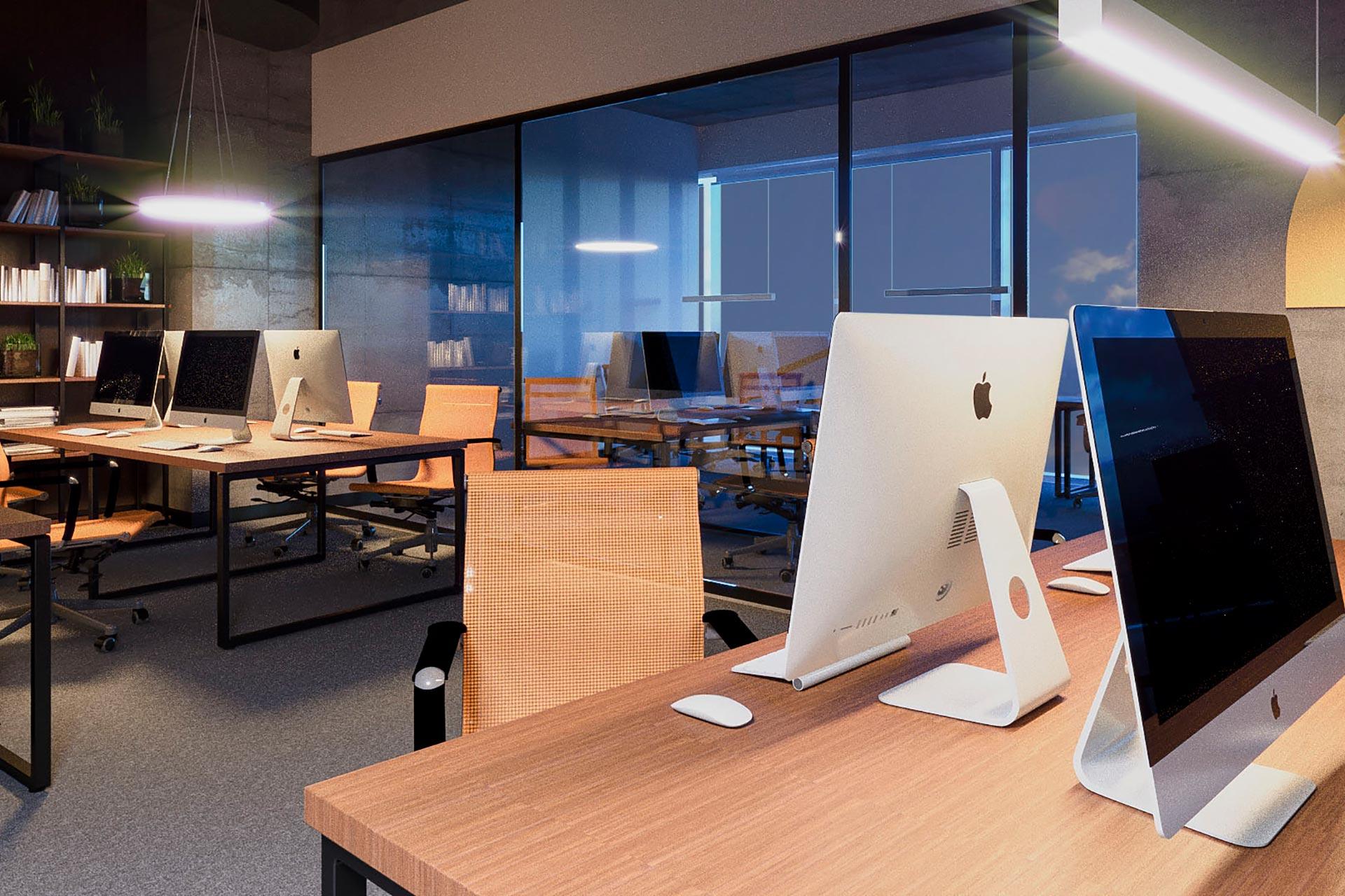 Дизайн интерьера co-working офиса