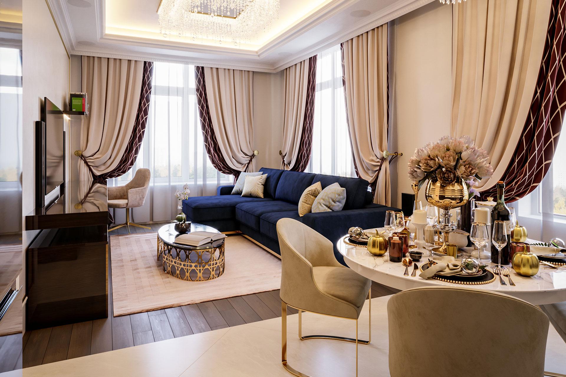 Дизайн интерьера квартиры в ЖК Суббота