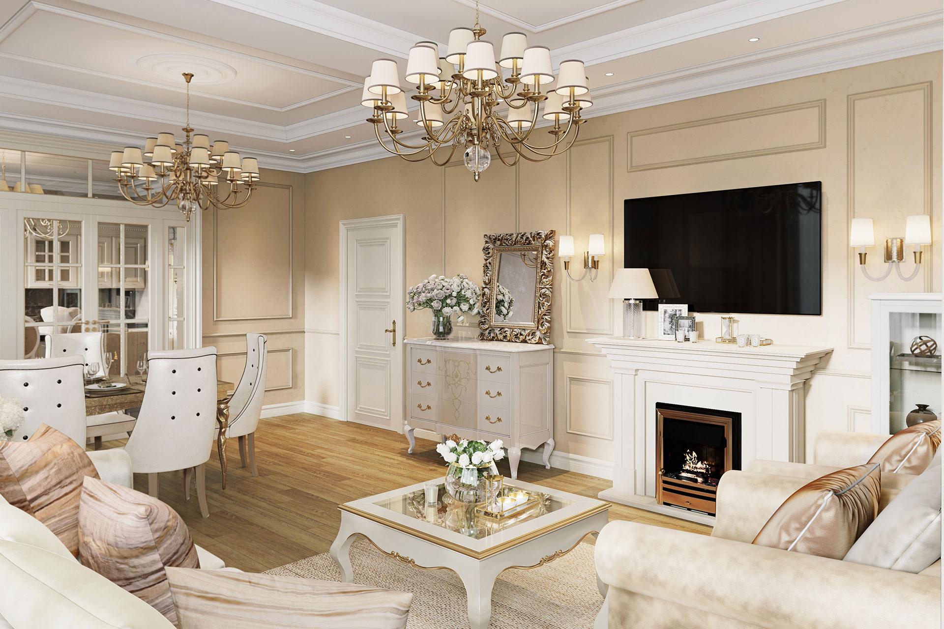 Дизайн интерьера квартиры в ЖК Долина Сетунь