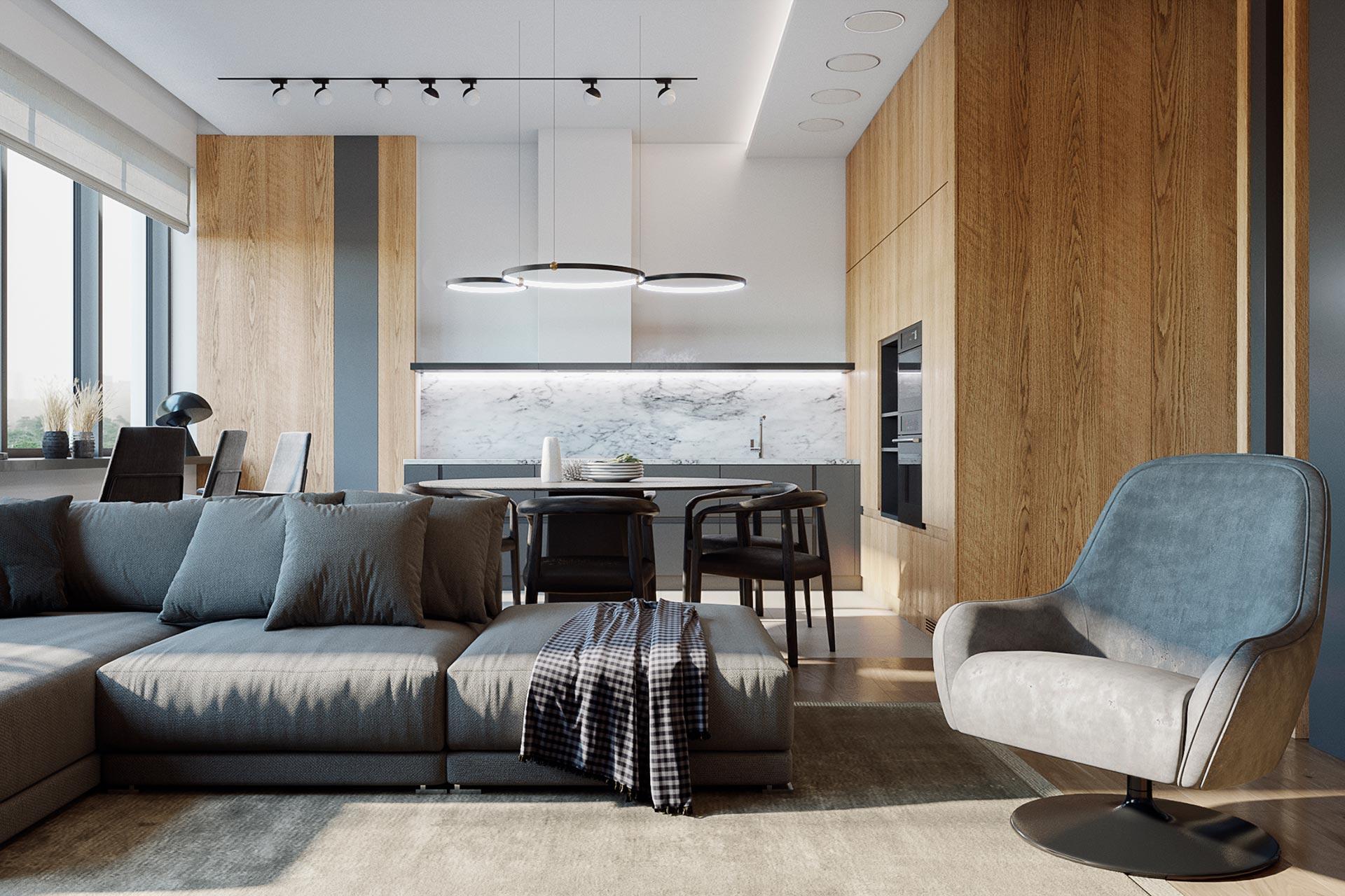 Дизайн интерьера квартиры в ЖК Лица