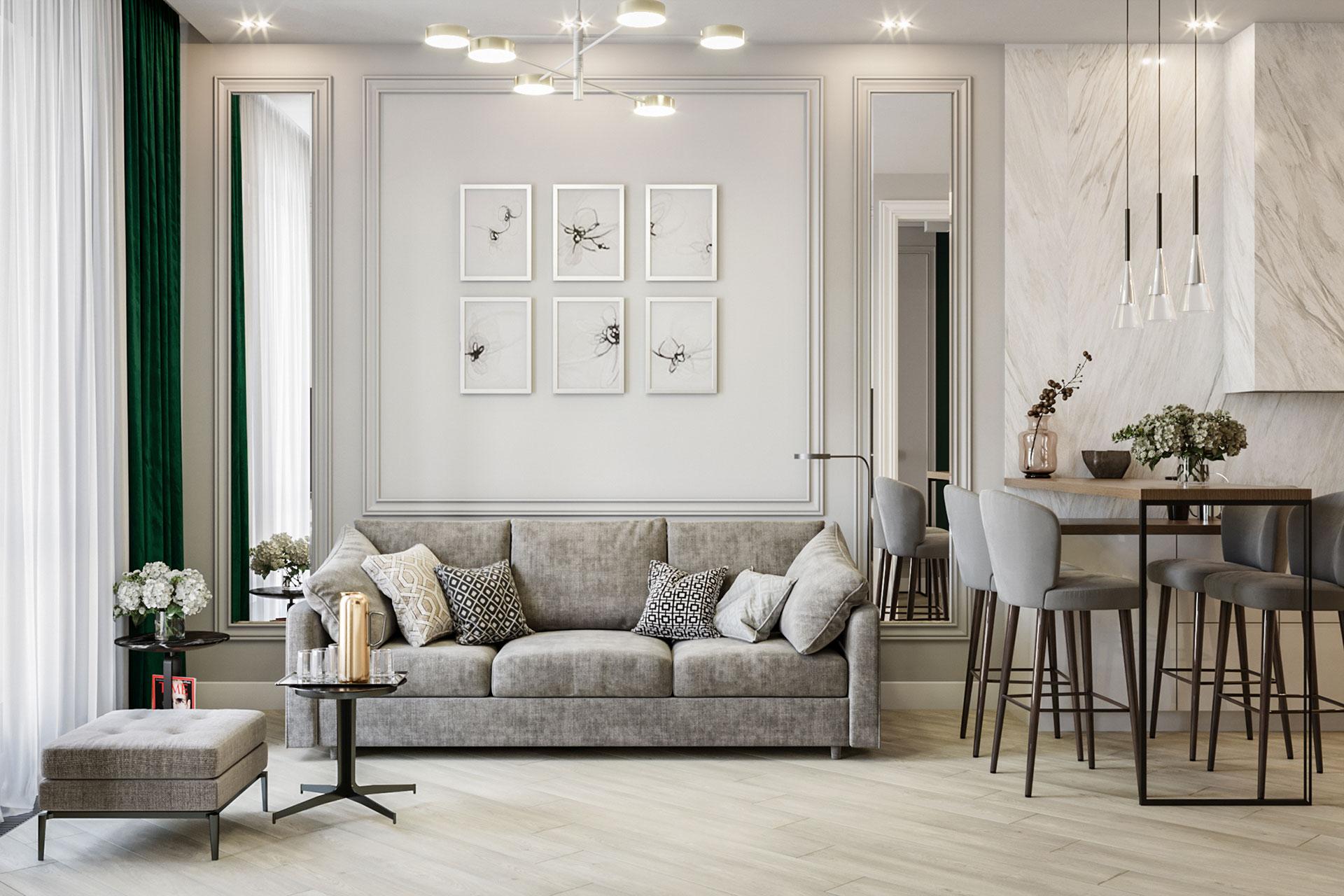 Дизайн интерьера квартиры в ЖК Балчуг Вьюпоинт