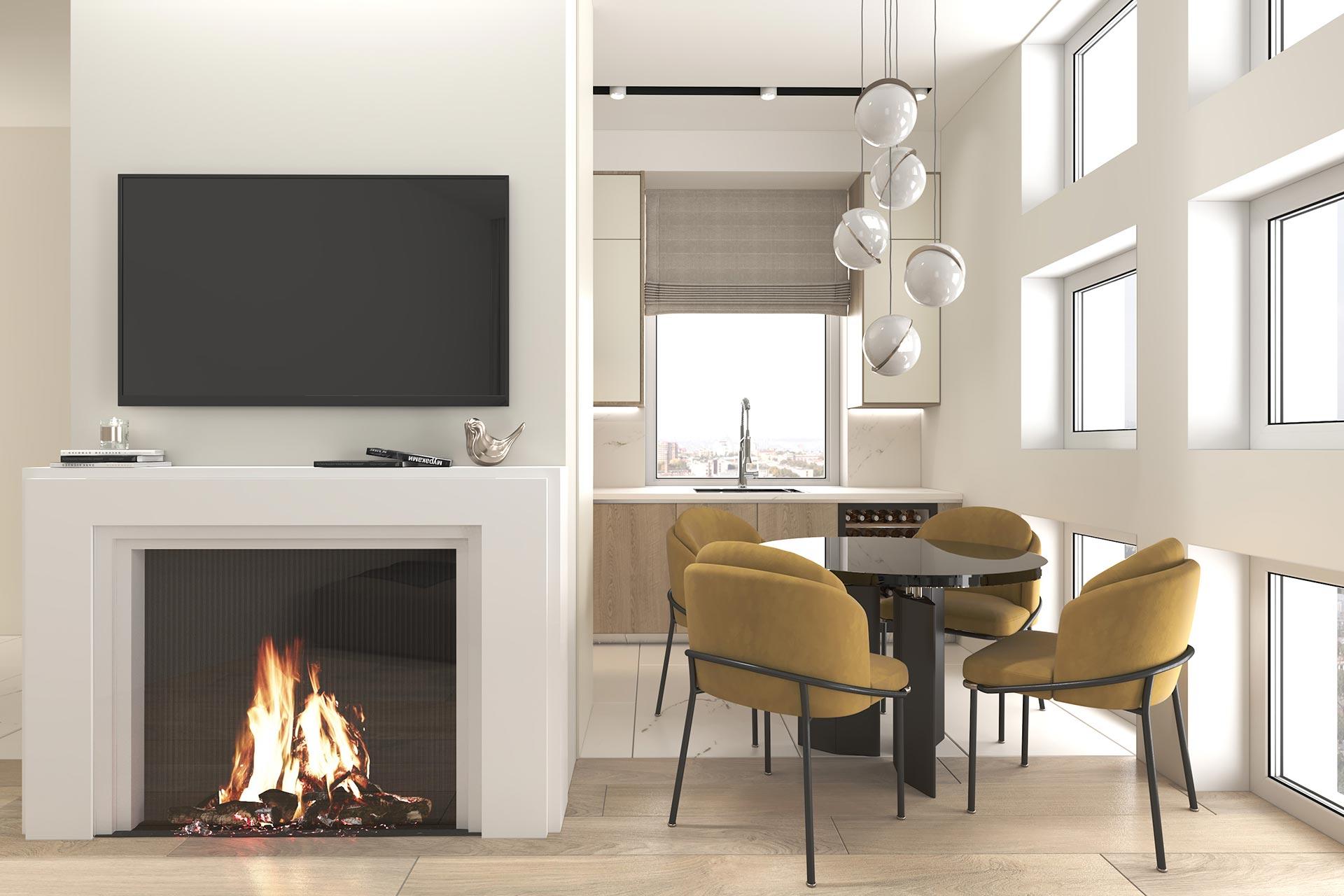 Дизайн интерьера квартиры в ЖК Голландский дом | В стиле минимализм