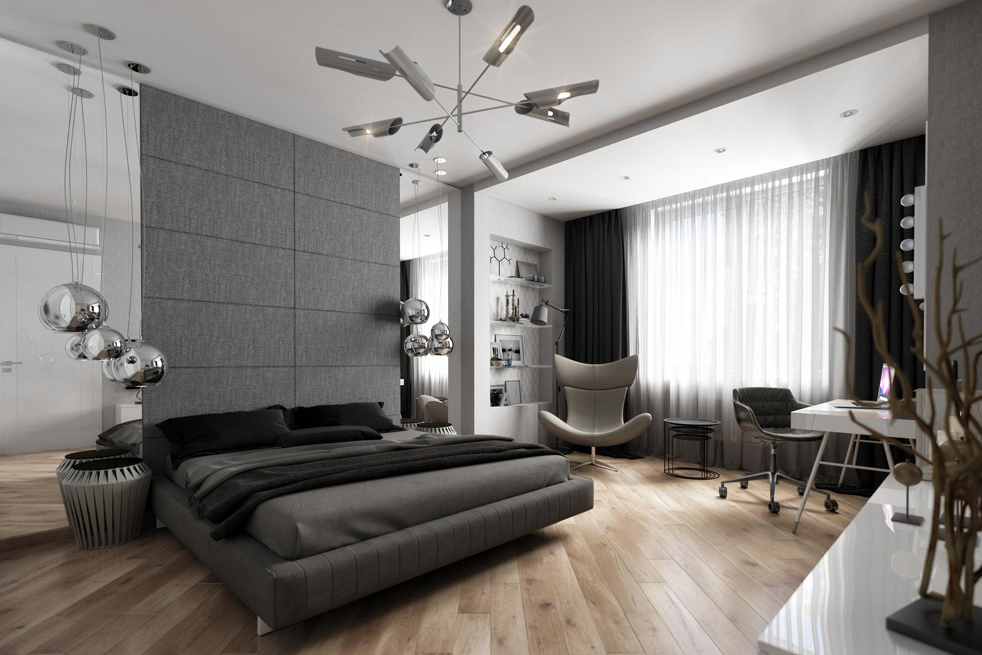 Интерьер квартиры в ЖК Мосфильмовский | Стиль минимализм