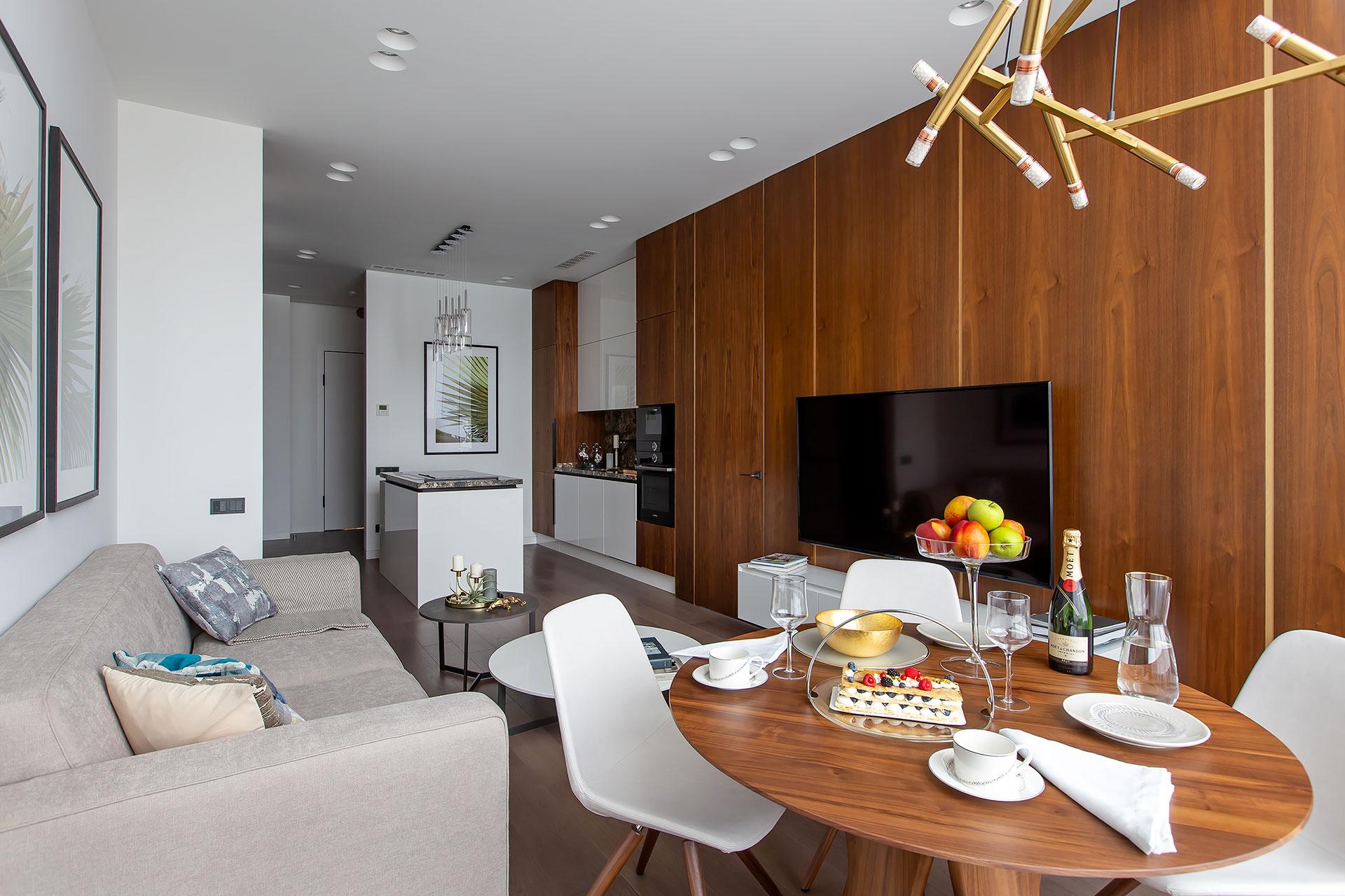 Дизайнерский ремонт апартаментов в современном стиле