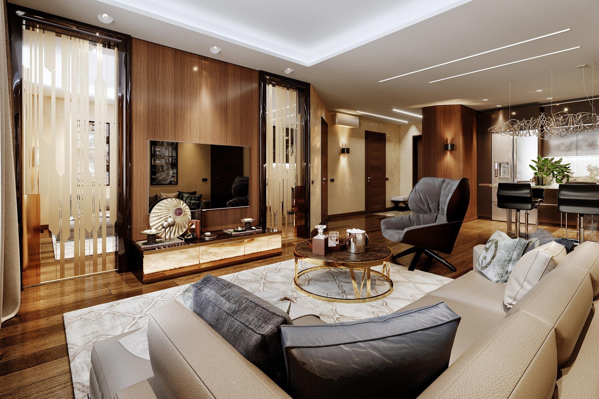 Дизайн интерьера квартиры в ЖК Авеню 77