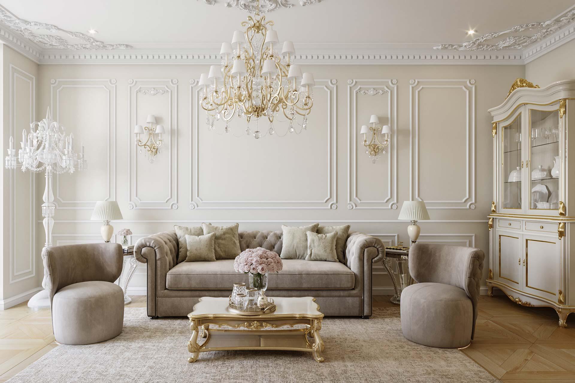Дизайн интерьера 4-х комнатной квартиры в ЖК ЗИЛАРТ | Классический стиль