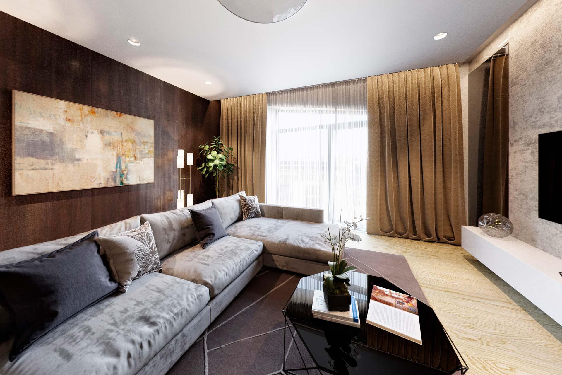 3D визуализация квартиры в стиле минимализм