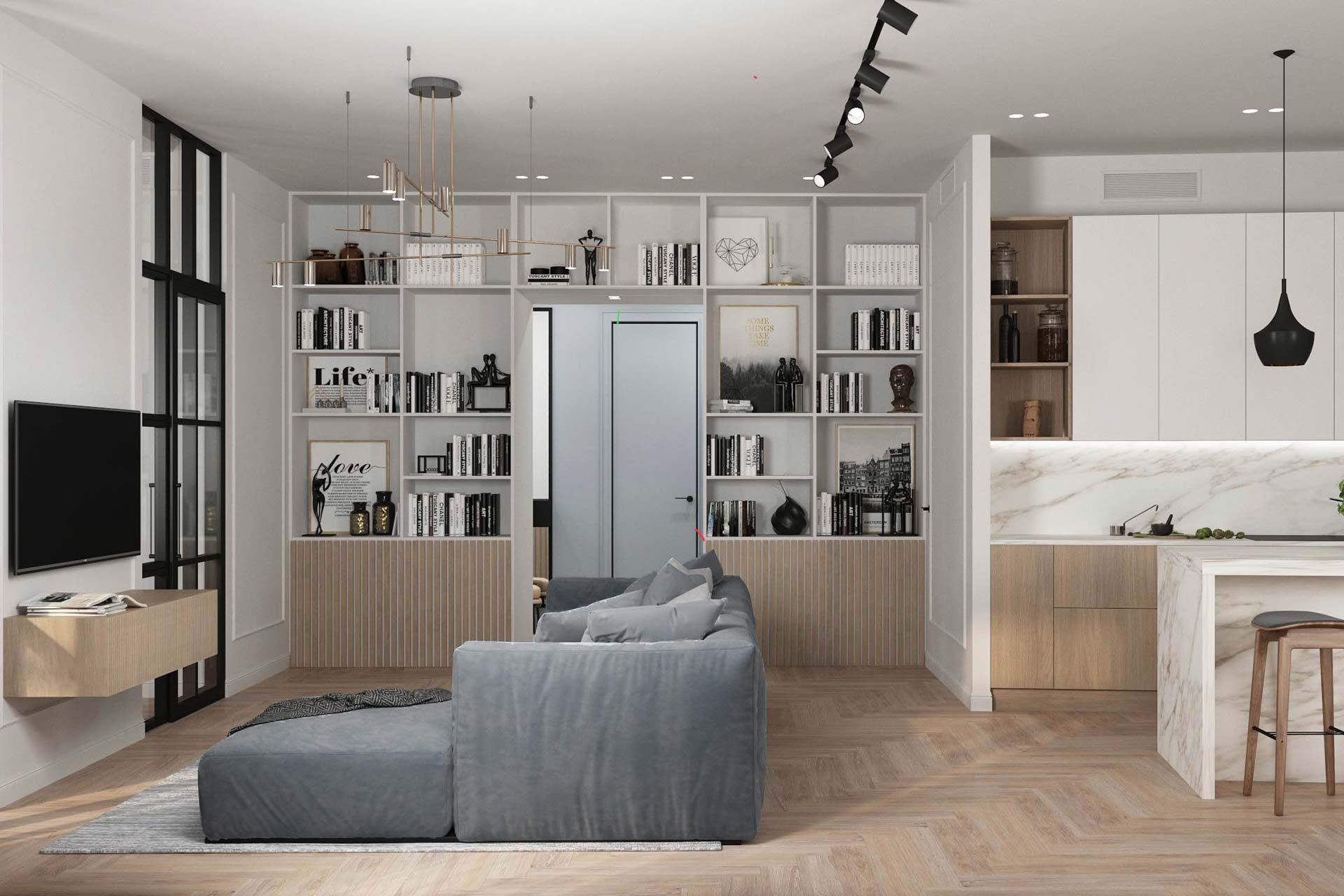 Дизайн интерьера 4-х комнатной квартиры в ЖК Balchug Viewpoint | Современный стиль