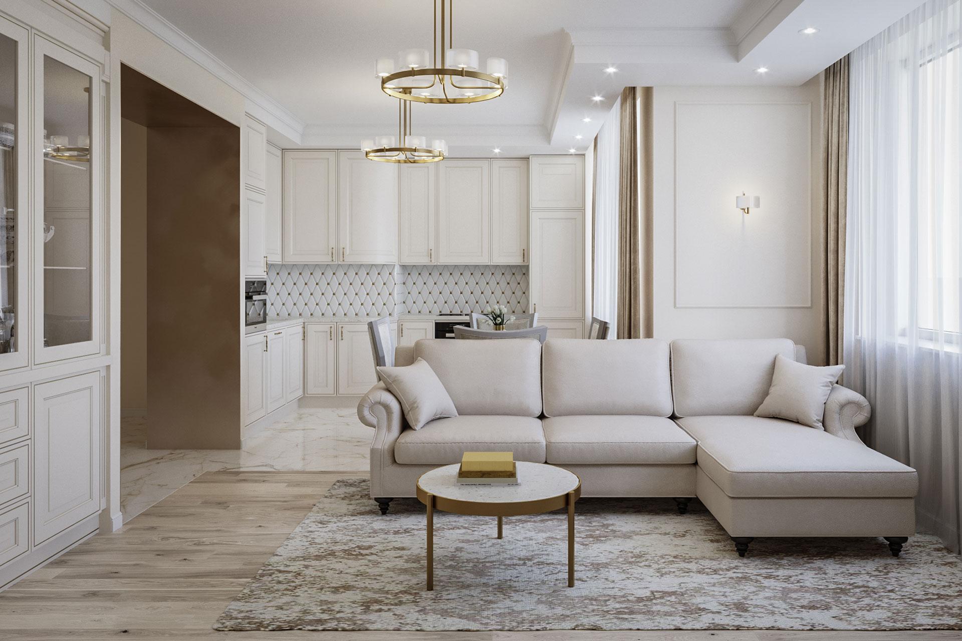 Дизайн интерьера 3-комнатной квартиры в ЖК Искра Парк | Дизайнер Земфира Мамаева