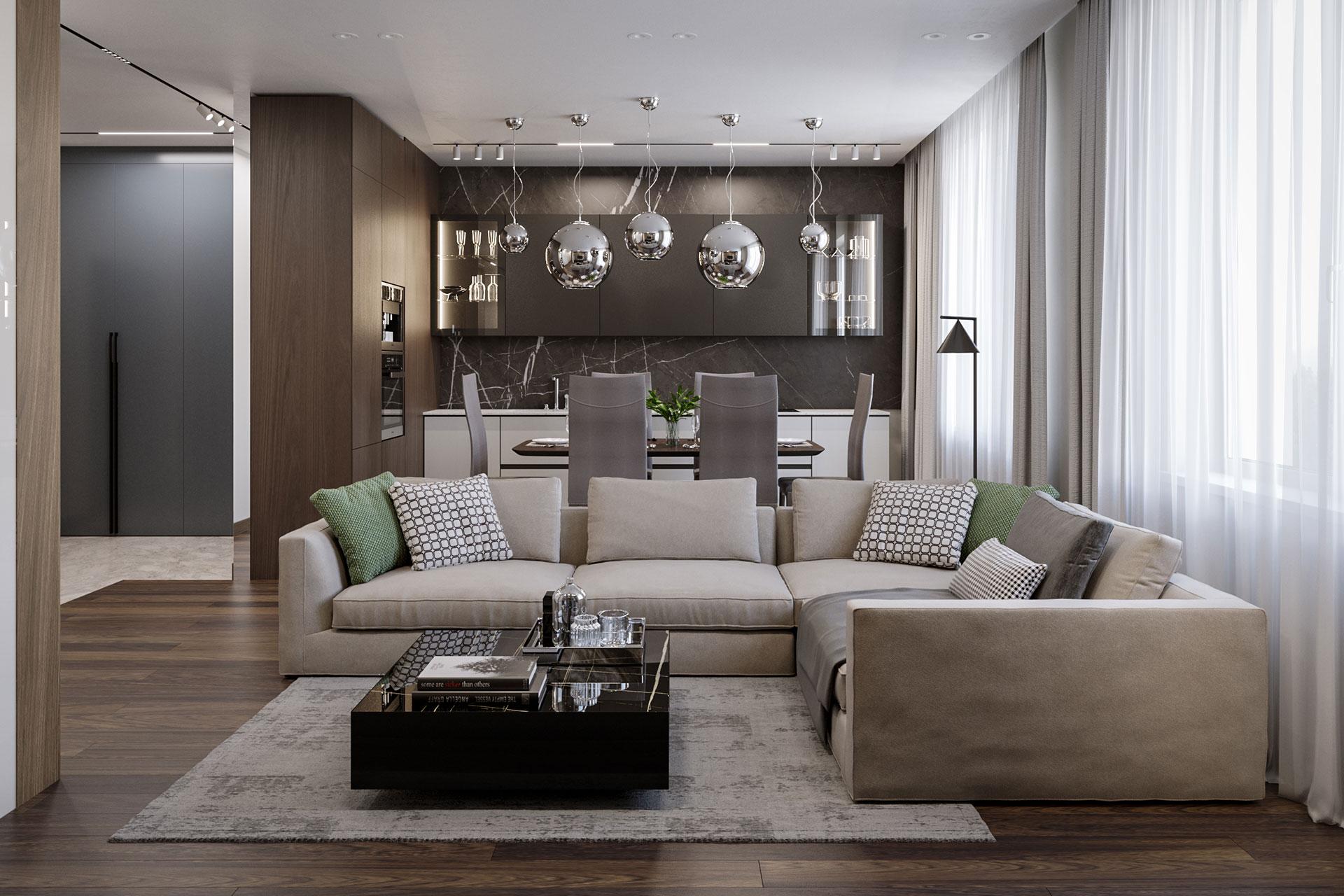 Дизайн интерьера квартиры в ЖК Город на Реке Тушино-2018