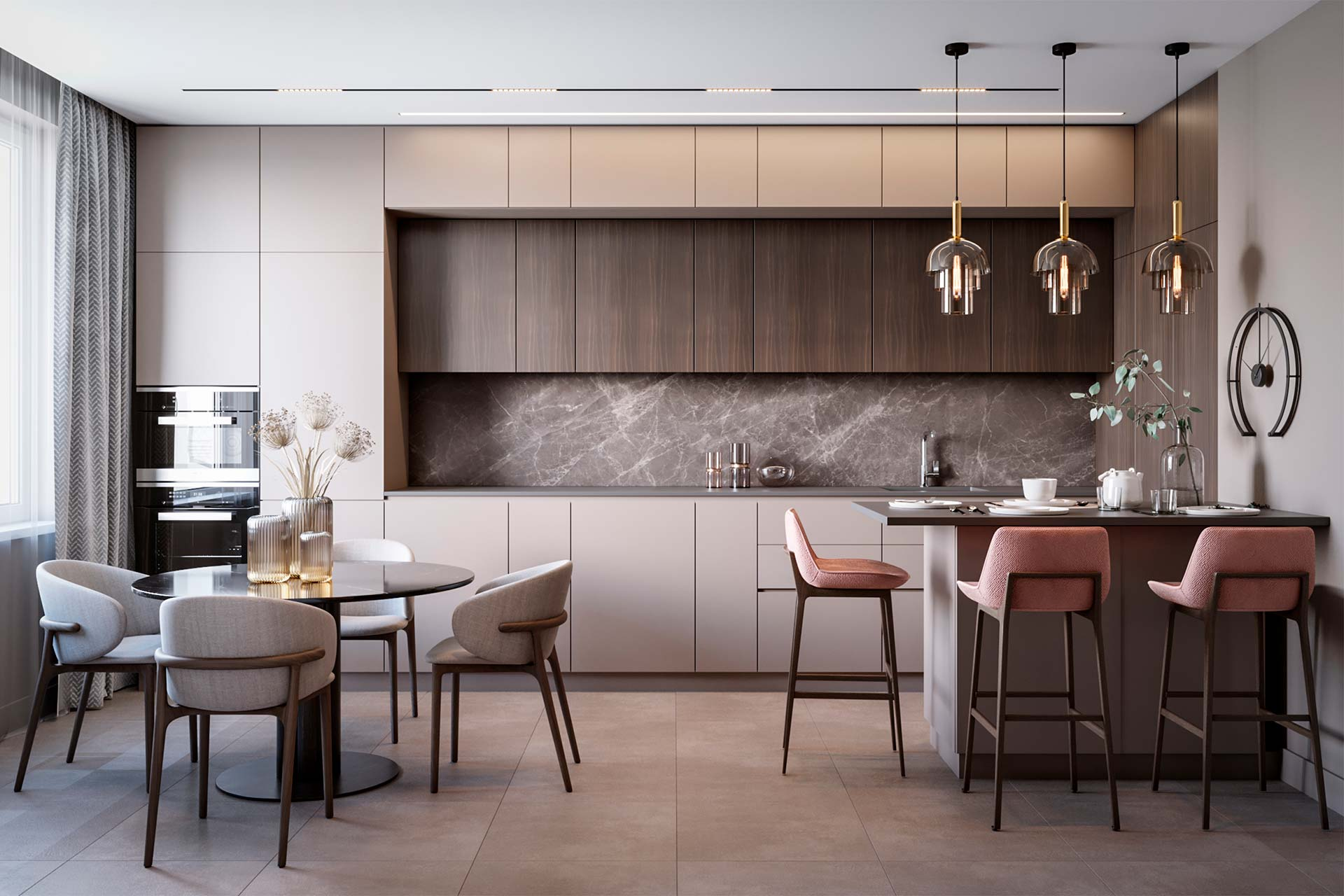 Дизайн интерьера двухуровневой квартиры в ЖК Май