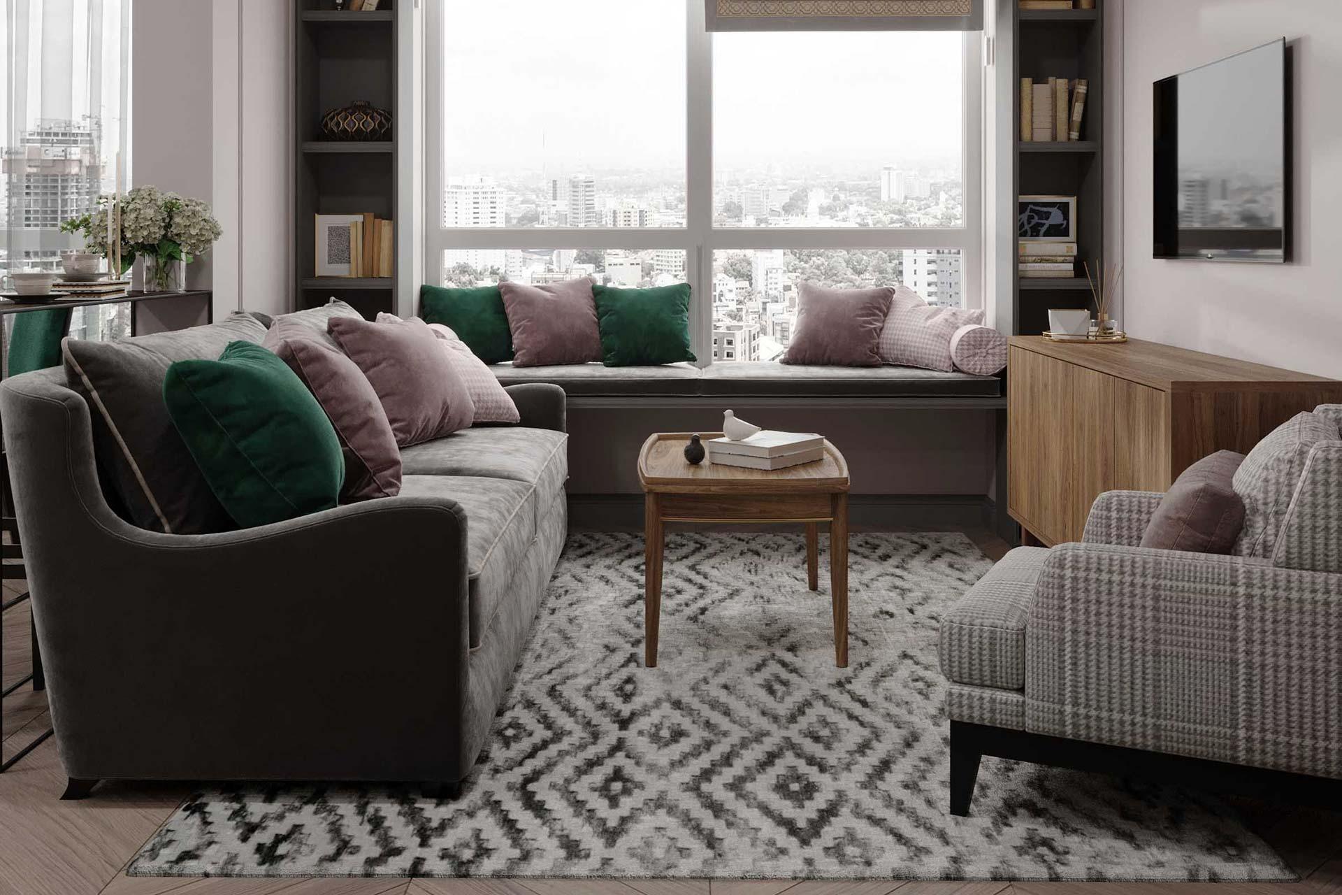 Дизайн интерьера квартиры-студии в ЖК Сити Парк