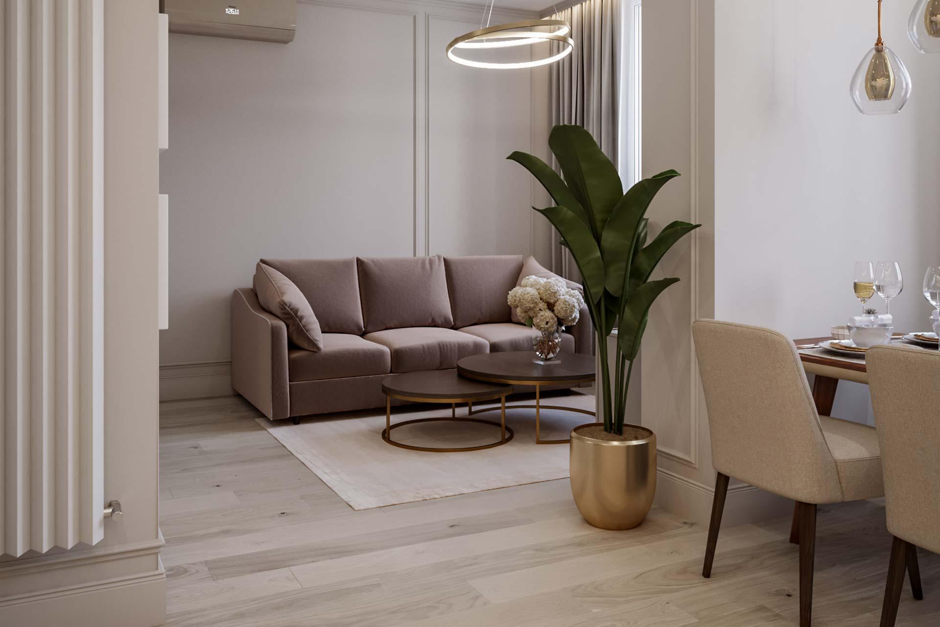 Дизайн интерьера квартиры-студии в ЖК Династия | Дизайн-проект