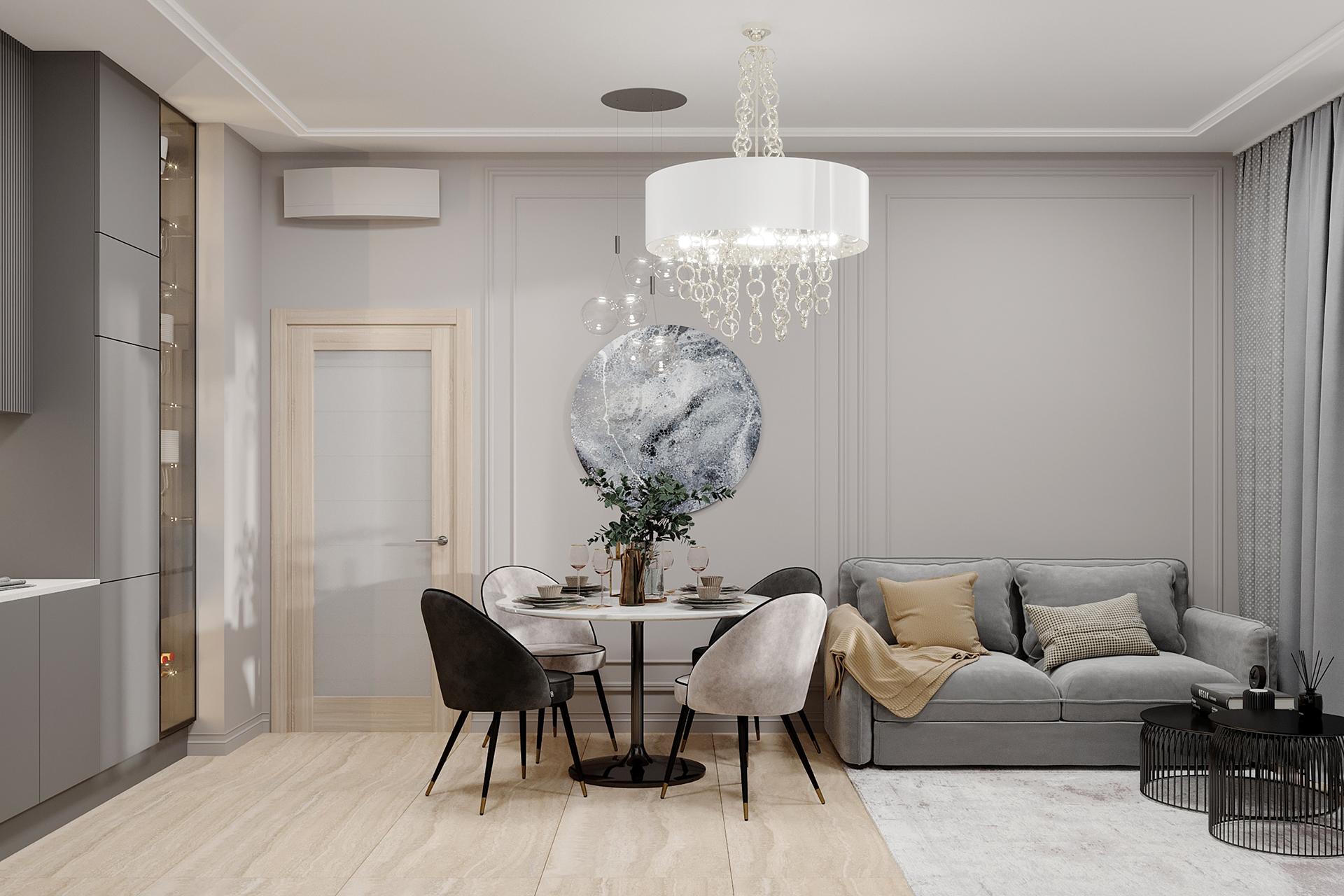 Дизайн интерьера квартиры в ЖК LIFE-Варшавская