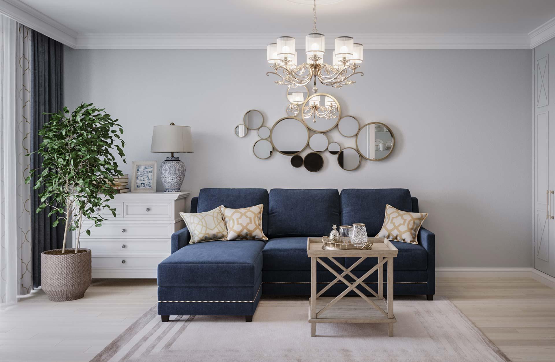 Дизайн интерьера квартиры в ЖК Марьино Град
