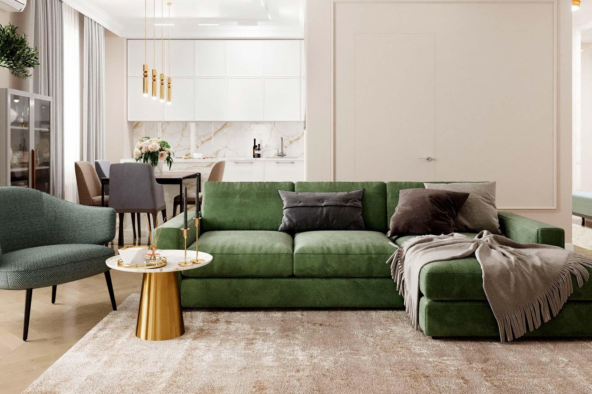 Дизайн интерьера квартиры в ЖК Мичуринский