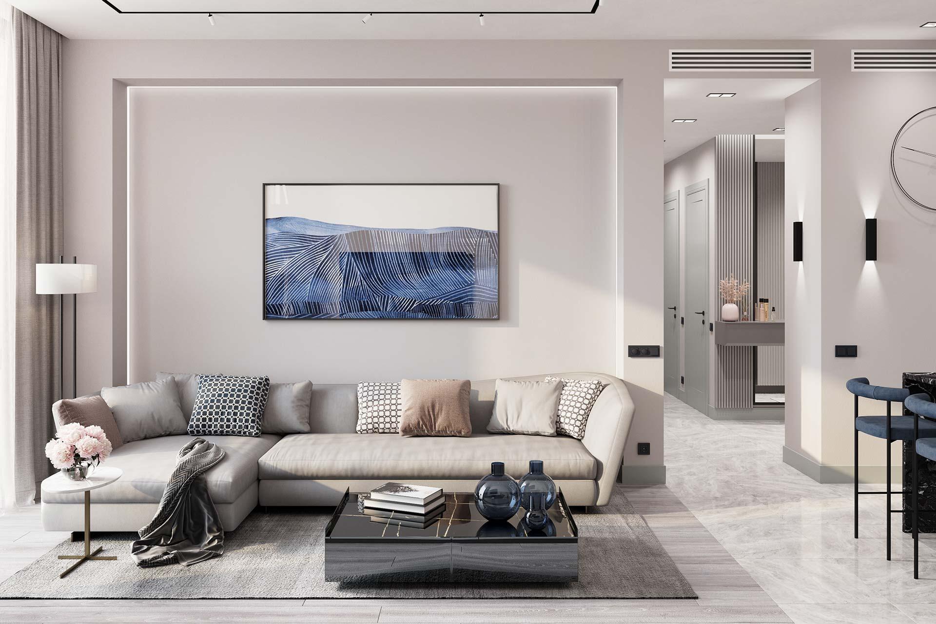 Дизайн интерьера квартиры в ЖК Реномэ