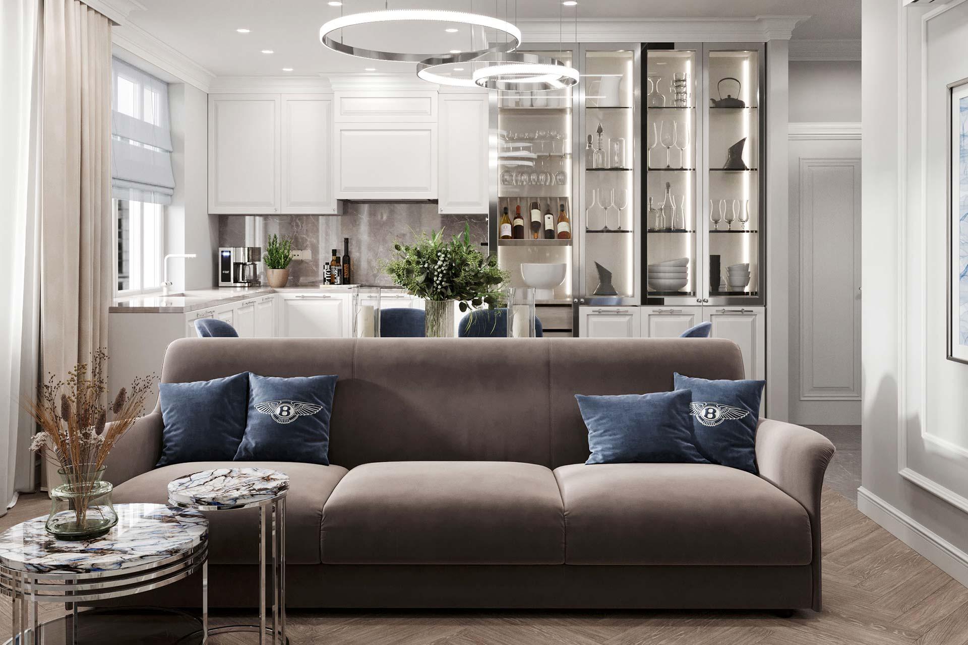 Дизайн интерьера квартиры в ЖК Счастье на Волгоградке
