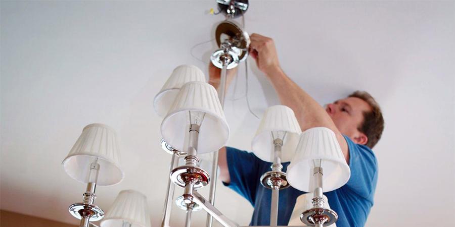 Монтаж светильников в квартире