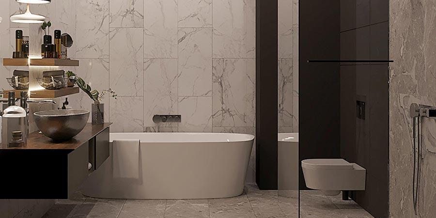 Функциональная ванная в современном стиле