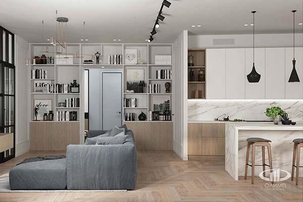Подбор гостиной в стиле минимализм