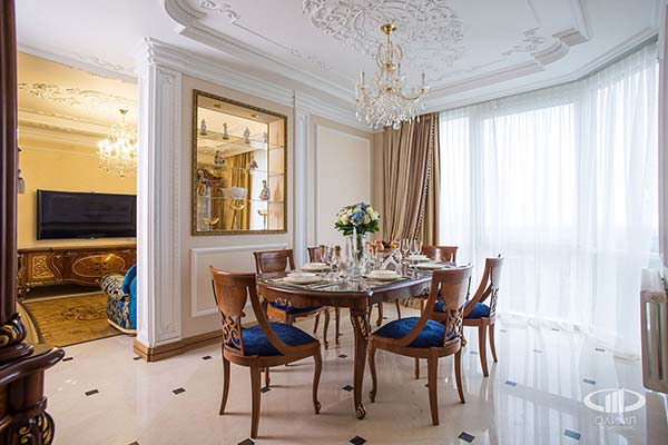 Подбор гостиной в классическом стиле