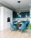 Интерьер квартиры в смешанном стиле | 3D-визуализация №3