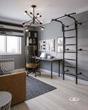 Дизайн интерьера квартиры в ЖК Марьино Град фото №10 | Комната подростка