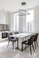 Кухня   Минимализм в интерьере квартиры реальное фото 2