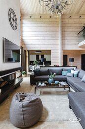 Дизайн интерьера загородного дома в стиле минимализм | Фото №1