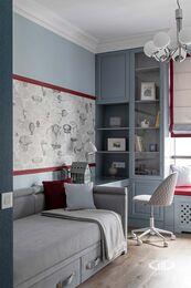 Дизайнерский ремонт 4-комнатной квартиры 140 кв.м. фото №15 | Детская комната для двух мальчиков