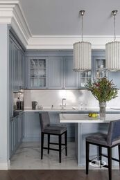 Дизайнерский ремонт 4-комнатной квартиры 140 кв.м. фото №2 | Кухня-гостиная