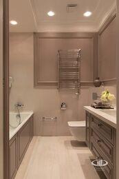 Дизайнерский ремонт 4-комнатной квартиры 140 кв.м. фото №26 | Ванная комната