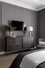 Дизайнерский ремонт 4-комнатной квартиры 140 кв.м. фото №9 | Спальня