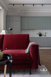 Дизайнерский ремонт квартиры в ЖК Садовые Кварталы | Фото №10 | Кухня-гостиная