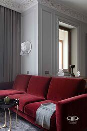 Дизайнерский ремонт квартиры в ЖК Садовые Кварталы | Фото №11 | Кухня-гостиная
