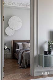 Дизайнерский ремонт квартиры в ЖК Садовые Кварталы | Фото №17 | Спальня