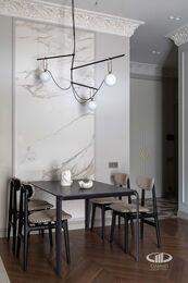 Дизайнерский ремонт квартиры в ЖК Садовые Кварталы | Фото №3 | Кухня-гостиная